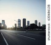 asphalt pavement urban road at... | Shutterstock . vector #630686138
