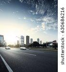 asphalt pavement urban road at... | Shutterstock . vector #630686216