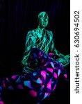 uv dancers in the nightclub... | Shutterstock . vector #630694502