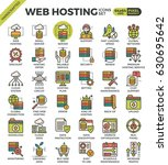 web hosting concept detailed... | Shutterstock .eps vector #630695642