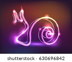 glowing neon sign snail vector   Shutterstock .eps vector #630696842