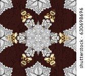 vector golden pattern. oriental ...   Shutterstock .eps vector #630698696