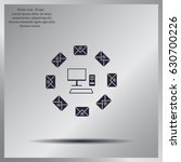 mail computer  vector...