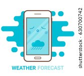 weather forecast in smartphone. ...