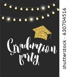 graduation class of 2017  party ... | Shutterstock .eps vector #630704516