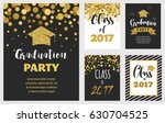 graduation class of 2017  party ... | Shutterstock .eps vector #630704525