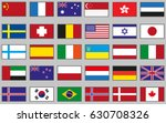 vector flags of the world | Shutterstock .eps vector #630708326