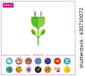 electric plug flower | Shutterstock .eps vector #630710072