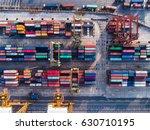 port of business transaction...   Shutterstock . vector #630710195