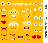 yellow smiley face character... | Shutterstock .eps vector #630713186