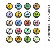 allergen icons set. color.... | Shutterstock .eps vector #630718985