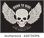 vintage biker graphics and... | Shutterstock .eps vector #630734396