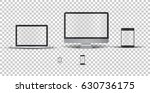single monitor  laptop  touch...   Shutterstock .eps vector #630736175