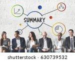 business summary message idea... | Shutterstock . vector #630739532