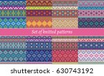 set of knitted patterns | Shutterstock .eps vector #630743192
