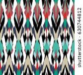 ikat seamless pattern design... | Shutterstock . vector #630744812