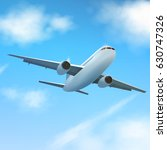 plane flies high in the clouds  ... | Shutterstock .eps vector #630747326