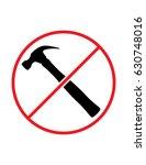 do not use hammer hammering...   Shutterstock .eps vector #630748016