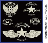 vintage varsity graphics and... | Shutterstock .eps vector #630749036