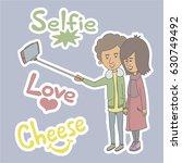 funny cartoon illustration boy... | Shutterstock .eps vector #630749492