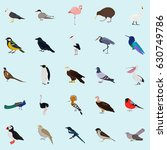 set of color birds icons for...   Shutterstock .eps vector #630749786