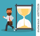 business man getting late | Shutterstock .eps vector #630752126