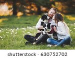 beautiful couple cuddling and... | Shutterstock . vector #630752702