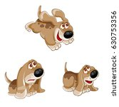 puppy with emotions. vector... | Shutterstock .eps vector #630753356