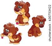 emotional bear cub. vector... | Shutterstock .eps vector #630753422