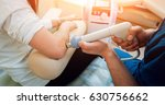 shock wave therapy. the... | Shutterstock . vector #630756662