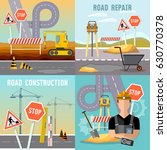 road construction and road... | Shutterstock .eps vector #630770378