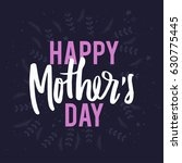 mothers day lettering overlays... | Shutterstock .eps vector #630775445