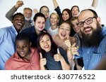 diverse group of happiness... | Shutterstock . vector #630776522