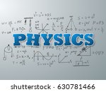 physics word on light blue... | Shutterstock .eps vector #630781466
