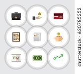 flat gain set of document ... | Shutterstock .eps vector #630785252