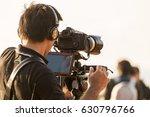 video camera man operator... | Shutterstock . vector #630796766