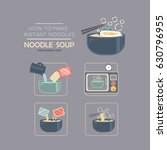 cooking instruction icon set ... | Shutterstock .eps vector #630796955