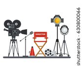 film directors chair with... | Shutterstock .eps vector #630800066