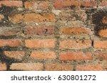 background of old vintage brick ... | Shutterstock . vector #630801272
