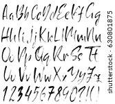hand drawn dry brush font.... | Shutterstock .eps vector #630801875