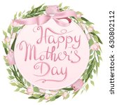 mother's day greeting card with ... | Shutterstock .eps vector #630802112