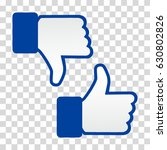 like and dislike icon. thumbs... | Shutterstock .eps vector #630802826