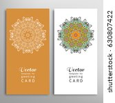 cards or invitations set with... | Shutterstock .eps vector #630807422