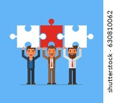 businessmen standing holding... | Shutterstock .eps vector #630810062