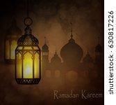 ramadan kareem  greeting... | Shutterstock .eps vector #630817226