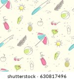 beach party pattern | Shutterstock .eps vector #630817496