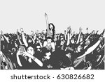 illustration of festival crowd... | Shutterstock .eps vector #630826682