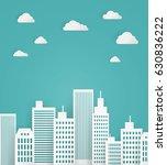 vector illustration of a white... | Shutterstock .eps vector #630836222