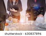 double exposure of young... | Shutterstock . vector #630837896