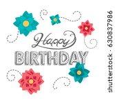 vector illustration of a happy... | Shutterstock .eps vector #630837986